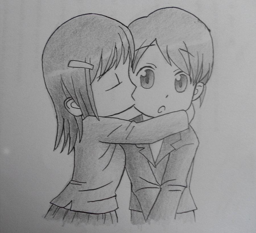 Drawn kisses chibi The RCUVyo chibi on kiss