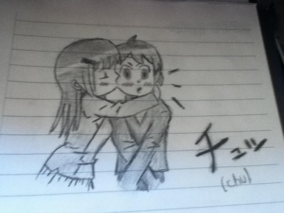 Drawn kisses chibi By Cute Cute kiss kiss