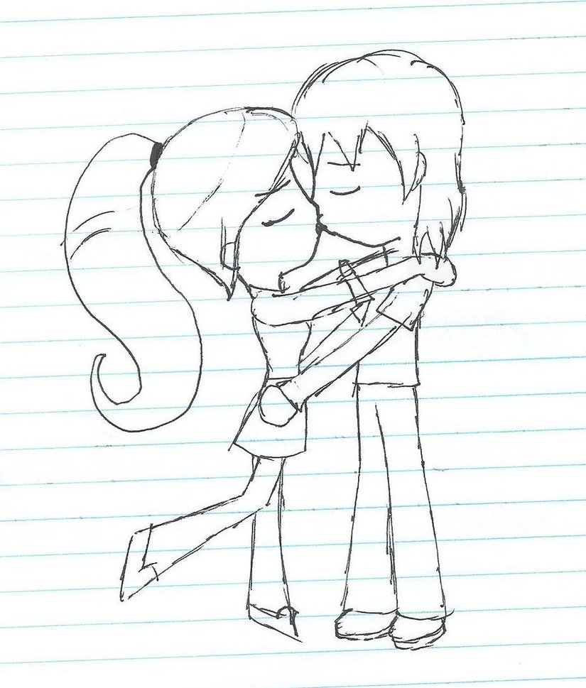 Drawn kisses chibi On gwevin chibi kiss by