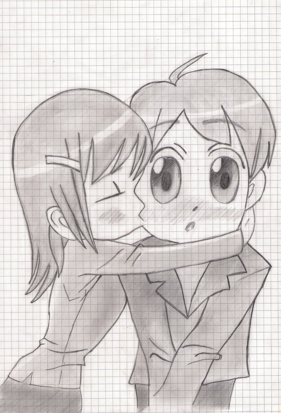 Drawn kisses chibi On by  Kiss Chibi