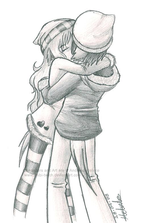 Drawn kisses chibi By Kiss by on Kiss