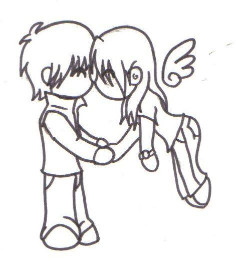 Drawn kisses chibi By on Chibi by Chibi