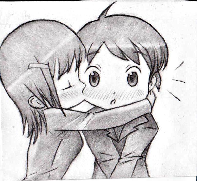 Drawn kisses chibi By Chibi by on Chibi