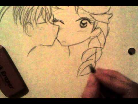 Drawn kisses chibi Cheek another How draw on