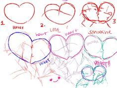 Drawn kisses cute So this be and more