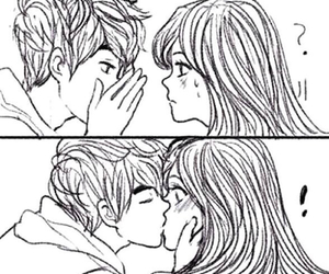 Drawn kisses cute couple Heart We boy about See