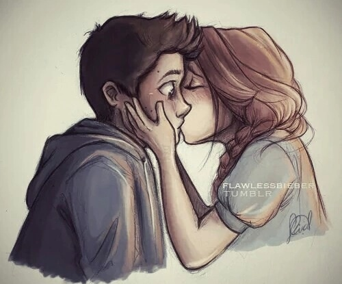 Drawn kisses cute couple Search Google love drawing Pinterest