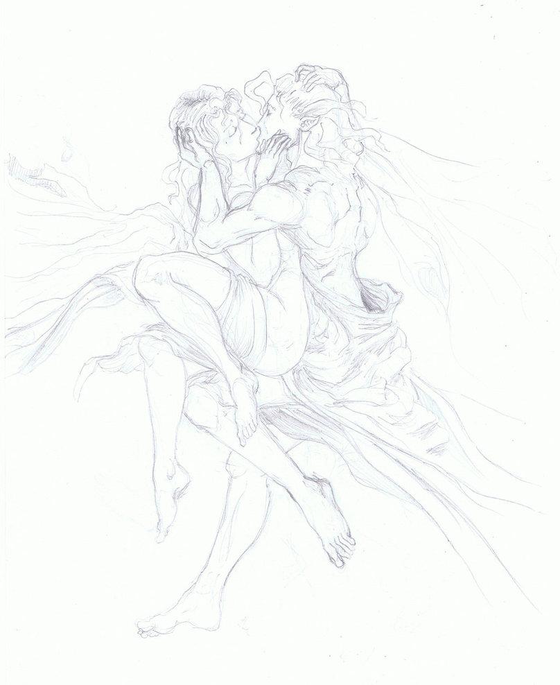 Drawn kisses elven By kodzakos kodzakos Elves kiss