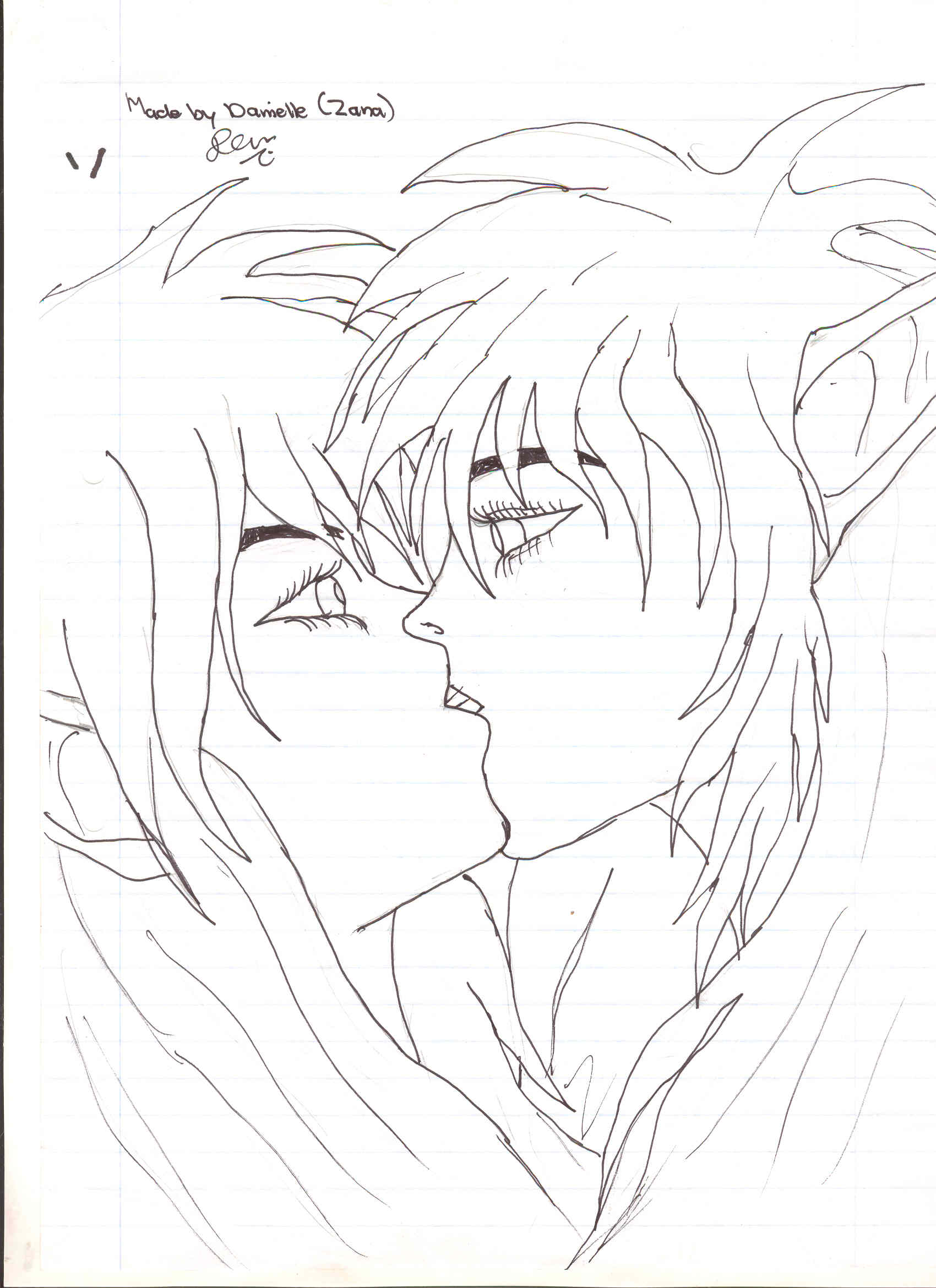 Drawn kisses elven By zananeichan Kissing by Draw
