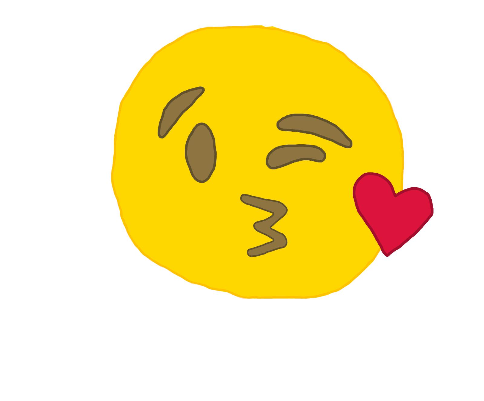 Drawn kisses emoji A Best To Draw Draw