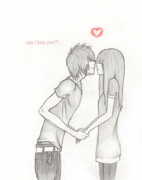 Drawn cute kiss 51 more best Couple Couple