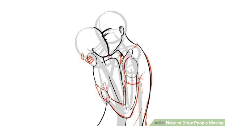 Drawn kisses french kiss Draw Image Kissing wikiHow Draw