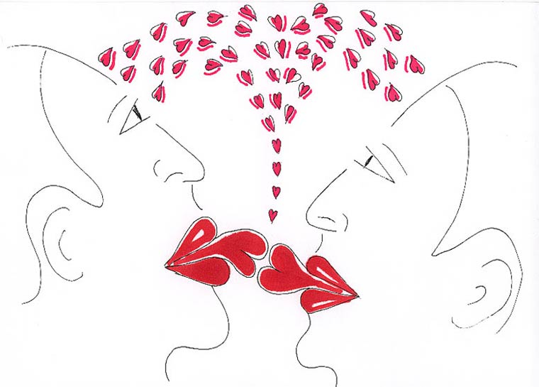 Drawn kisses french kiss Ink drawings drawing couple french