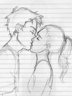Drawn kisses girlfriend Glasses couples cute of Google