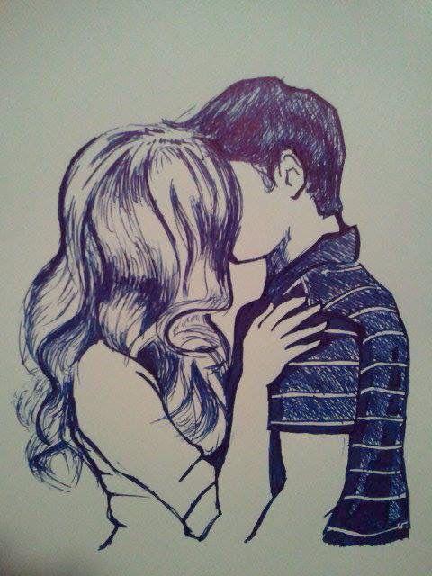 Drawn cute kiss Ideas 25+ on couple kézzel