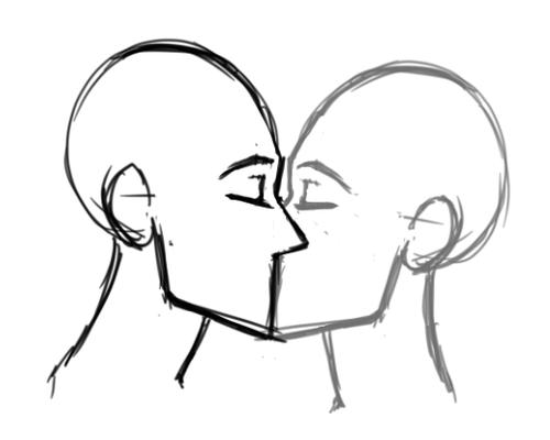 Drawn kisses hard Imitation in the bit kiss
