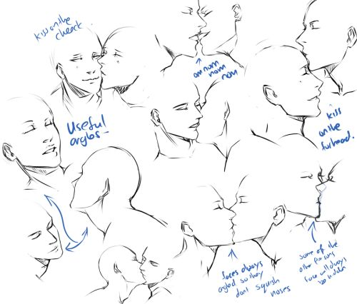 Drawn kisses hard Poses practice Couple  on
