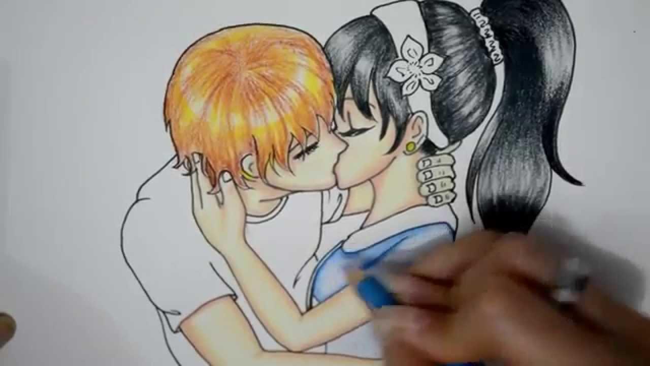 Drawn cute romantic #2