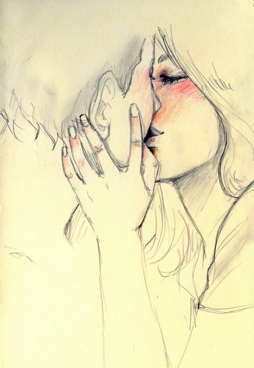 Drawn kisses hot kiss Pinterest Find and on couple
