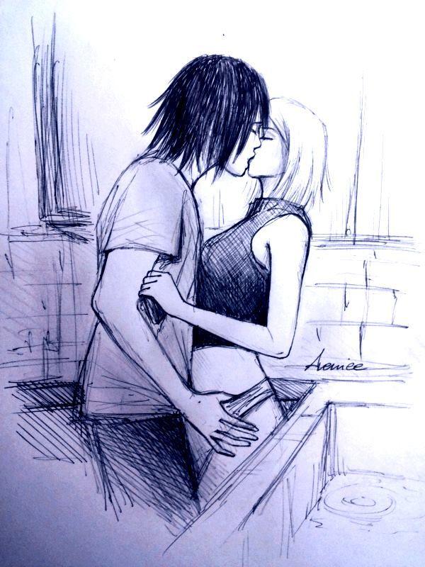 Drawn kisses hot kiss Sasusaku sasusaku sakura sakura naruto