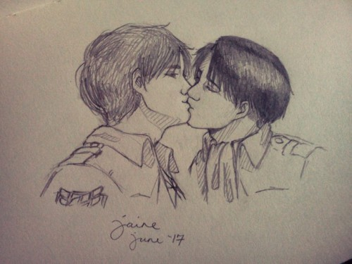 Drawn kisses john Another kiss Tumblr kiss Ereri