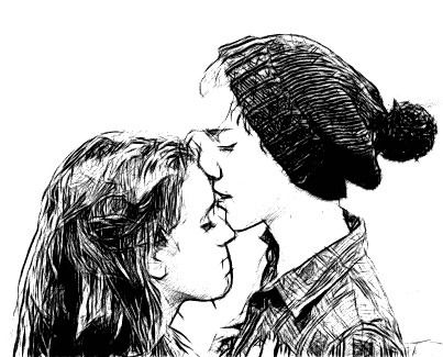 Drawn kisses john Forehead drawing kiss best Pinterest