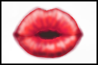Drawn kisses lip With by Step to