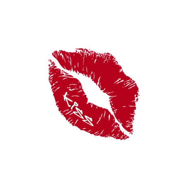 Drawn kisses lip outline Alternative Rock Punk Lip Lipstick