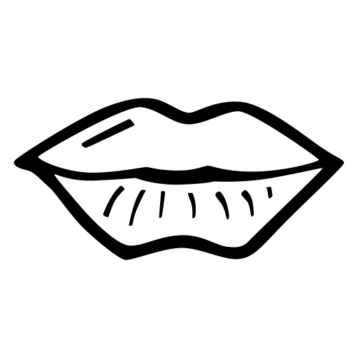 Drawn kisses lip outline Free kiss party & on