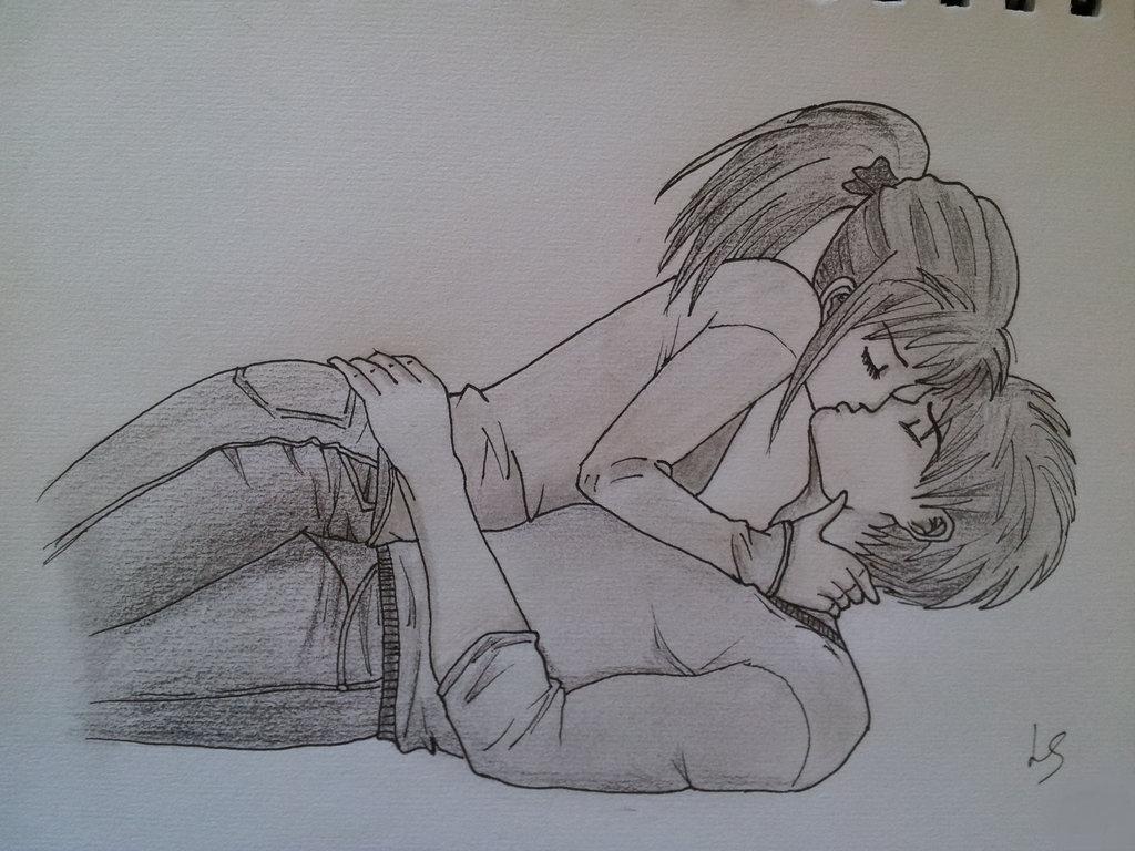 Drawn kisses markcrilley KiddSocks on Kissing DeviantArt Crilley's