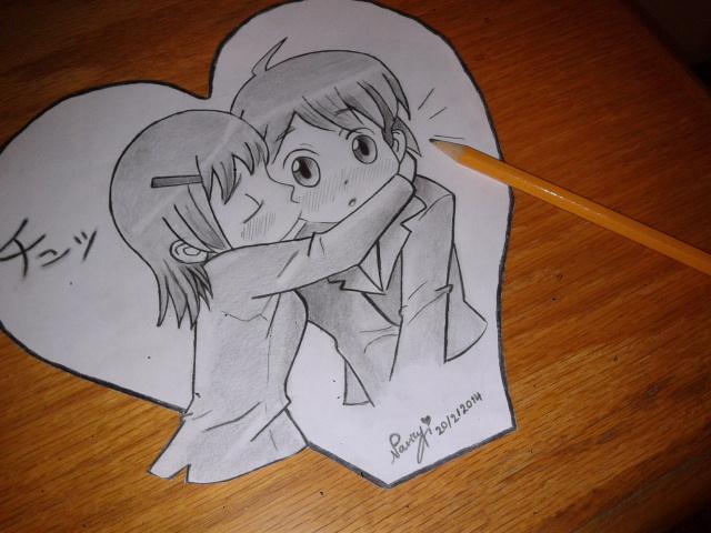 Drawn kisses markcrilley Nancy9595 on chibi DeviantArt Crilley