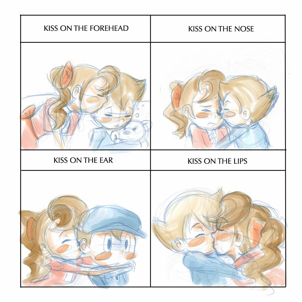 Drawn kisses meme Luke otakubox25 by DeviantArt Meme