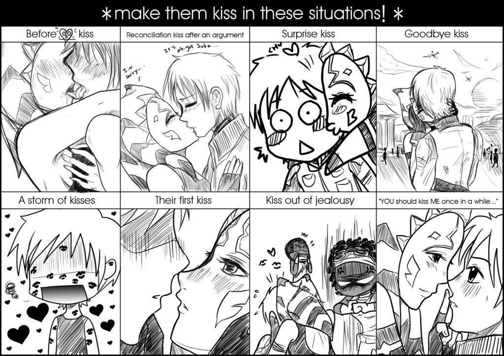 Drawn kisses meme Drawn Luxsoka Drawn Kiss by