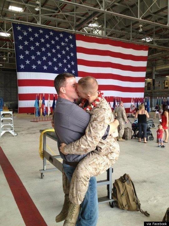 Drawn kisses military Kissing U Boyfriend: His Marine