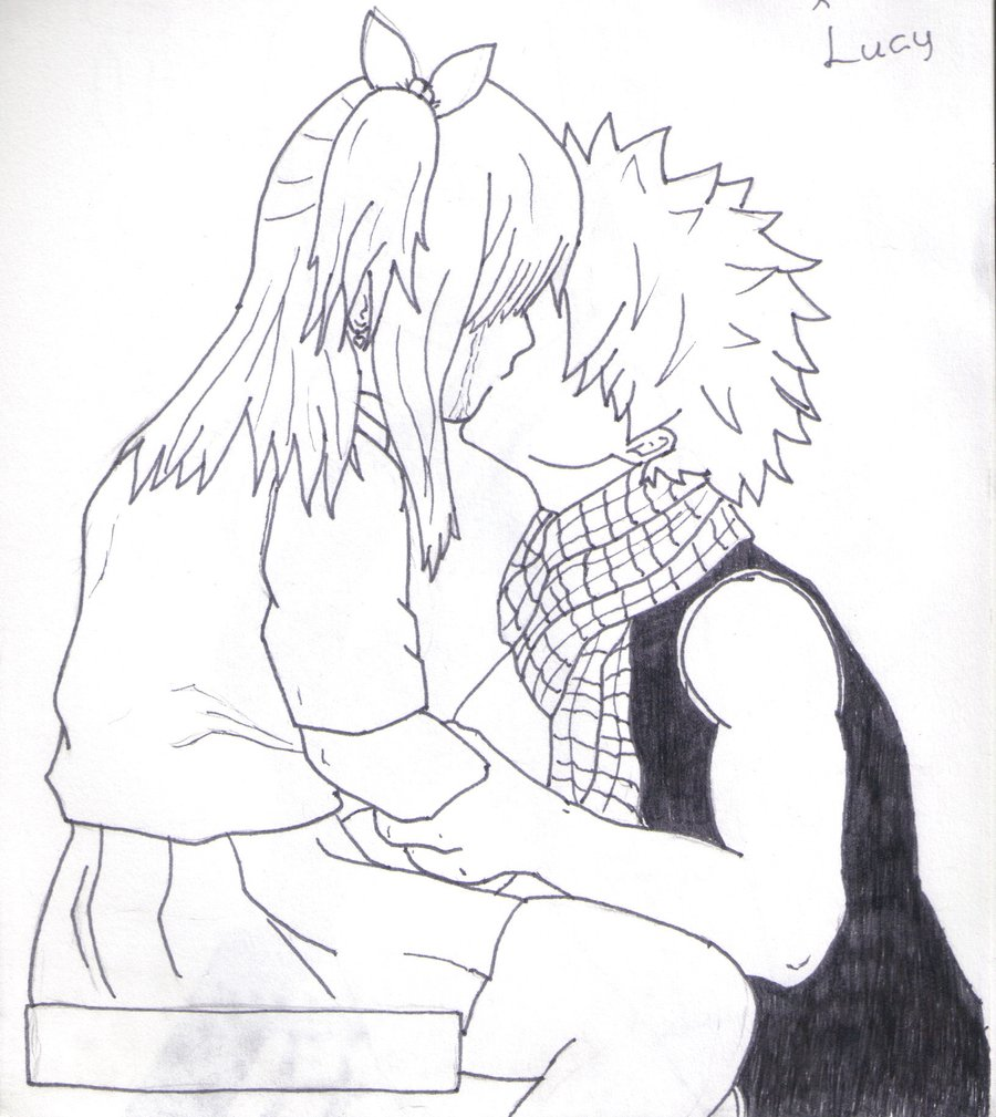 Drawn kisses nalu By Yuunpei kiss by Lucy