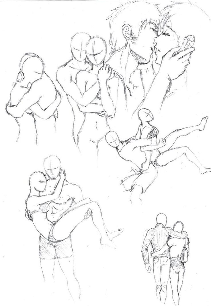 Drawn kisses person Couple on started use very
