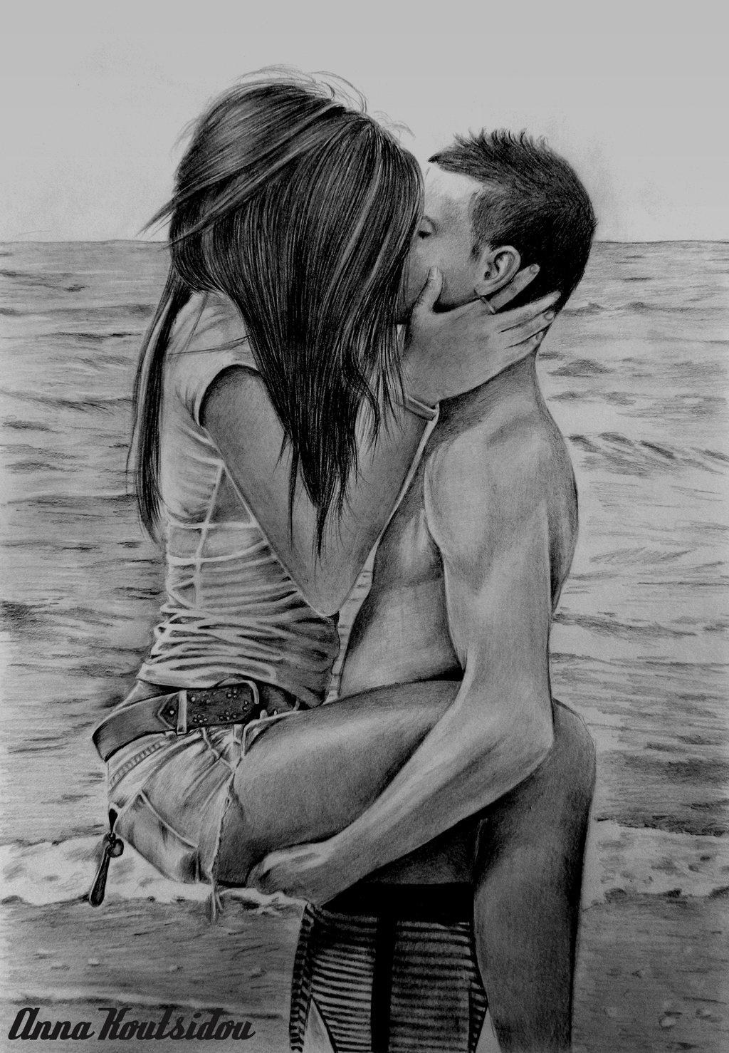 Drawn kisses person  com Up And deviantart