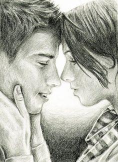 Drawn kisses person And kisses mina Perez on