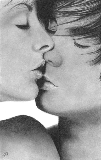 Drawn kisses realistic Kiss Young Kiss Love by