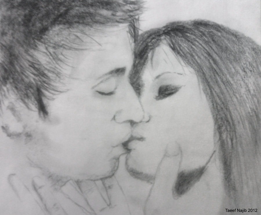 Drawn kisses realistic  Kissing Images Bing Sketches