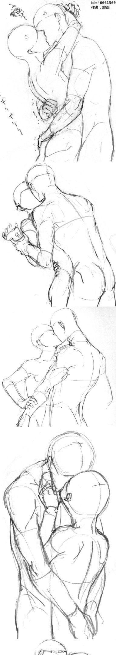 Drawn kisses reference La de #SAI retrato Drawing