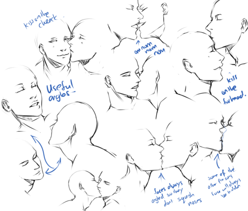 Drawn kisses reference To draw TO how HOW