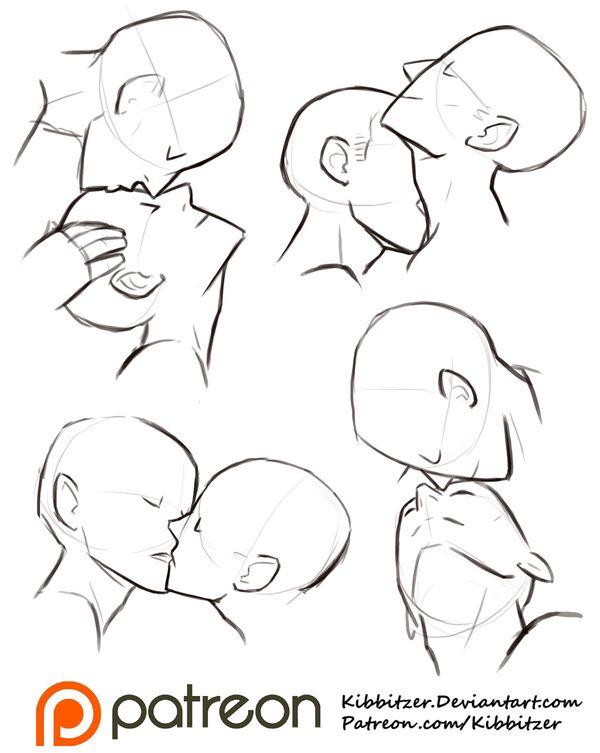 Drawn kisses reference @DeviantArt Sheet ideas Kisses drawing
