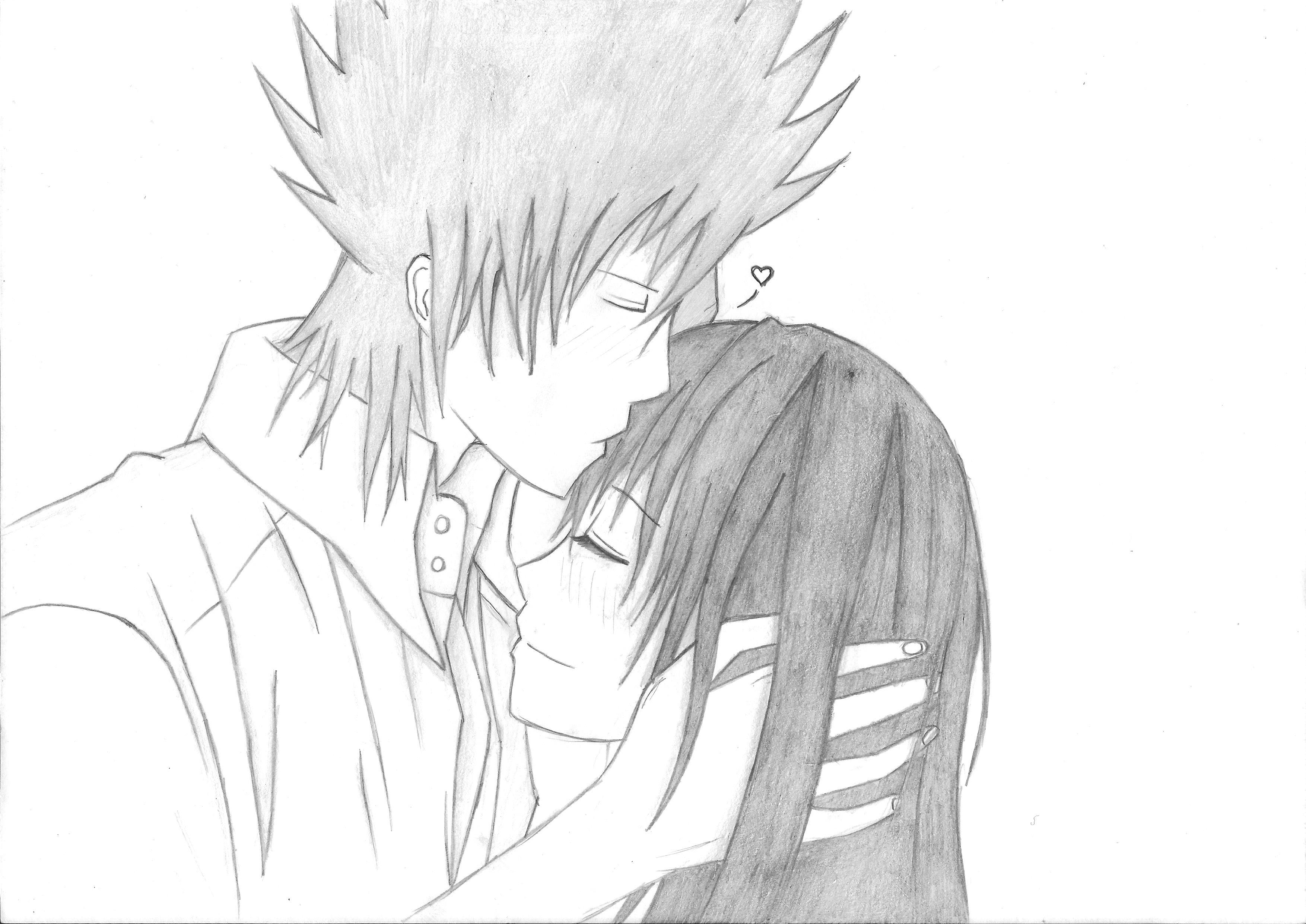 Drawn kisses romantic kissing (Complete)  (Complete) Romantic Kiss