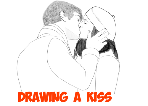 Drawn hug two person Step Step  Step to