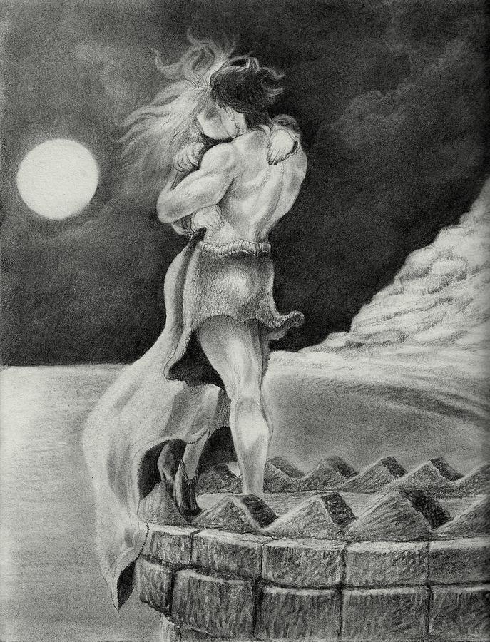 Drawn kisses romantic kissing  Drawings Romantic Kiss