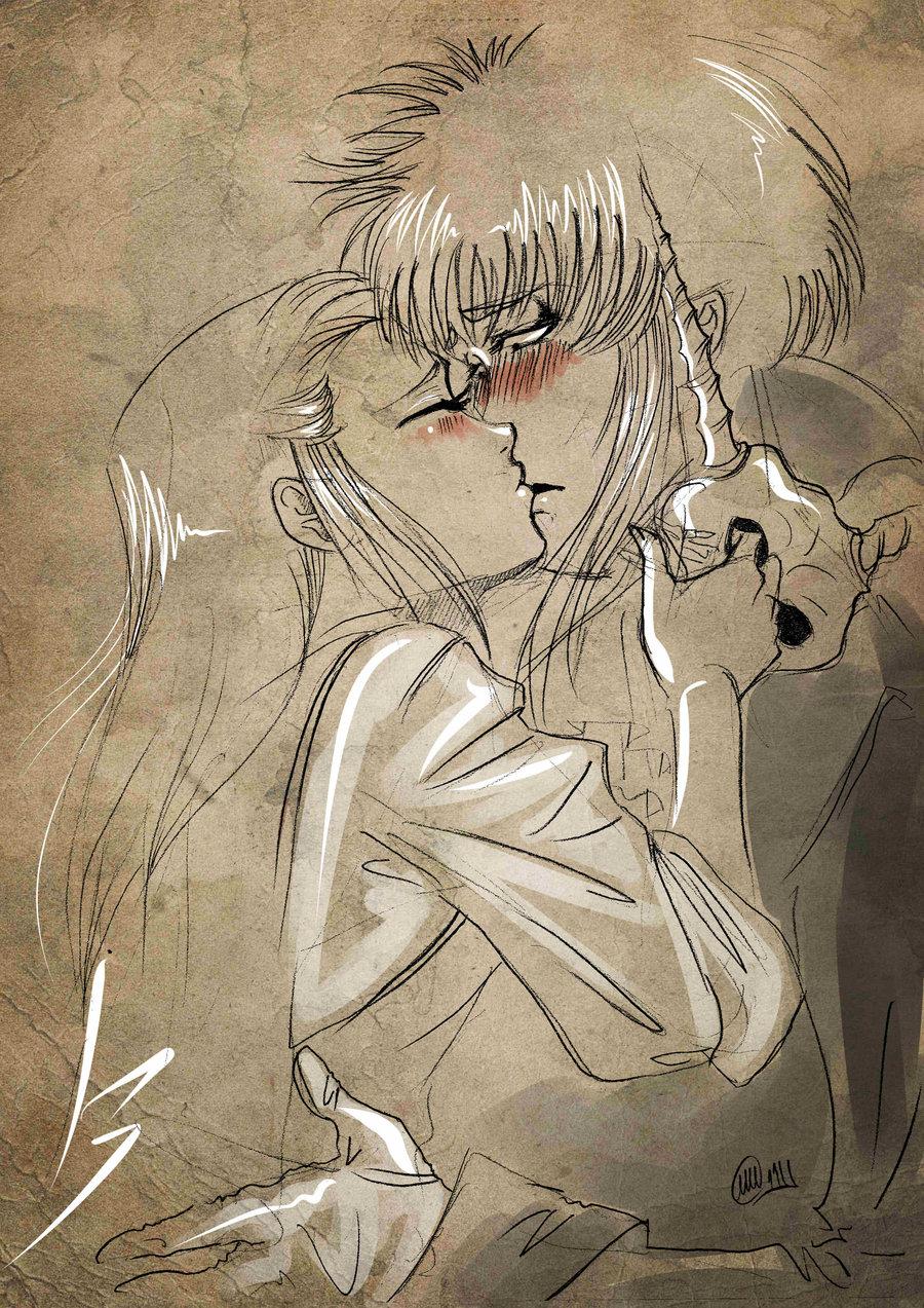 Drawn kisses sarah Take fan that mask sarah