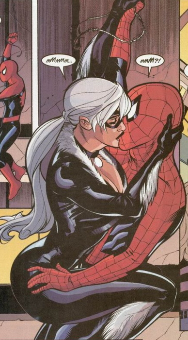 Drawn kisses spiderman catwoman Pinterest Spider Spider Frank Cat