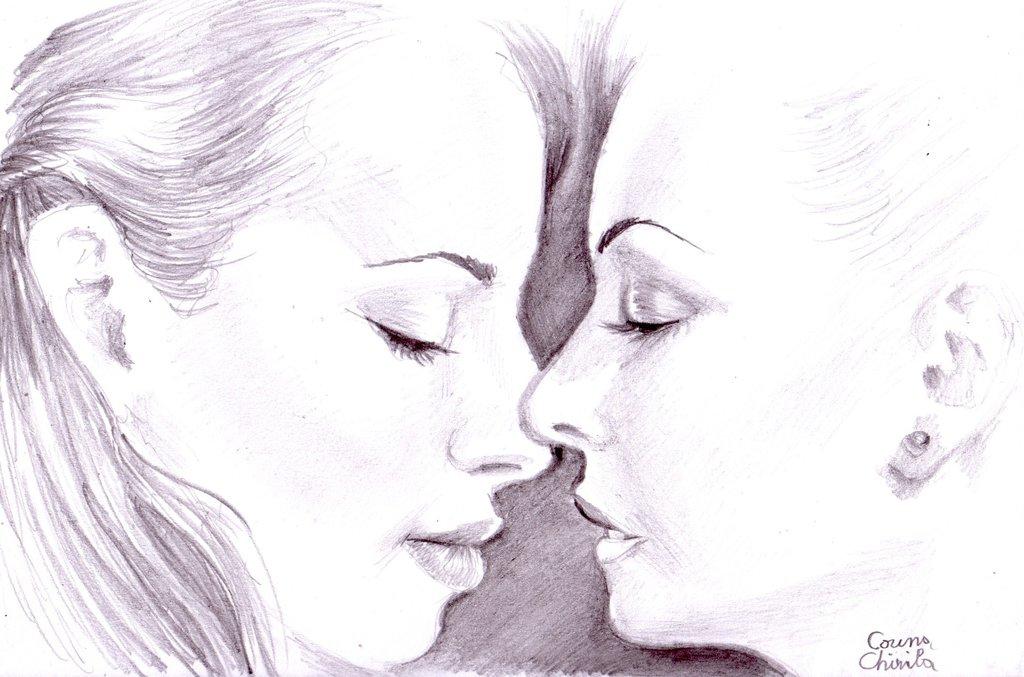 Drawn kiss sensual On Sensual pencil kiss DeviantArt