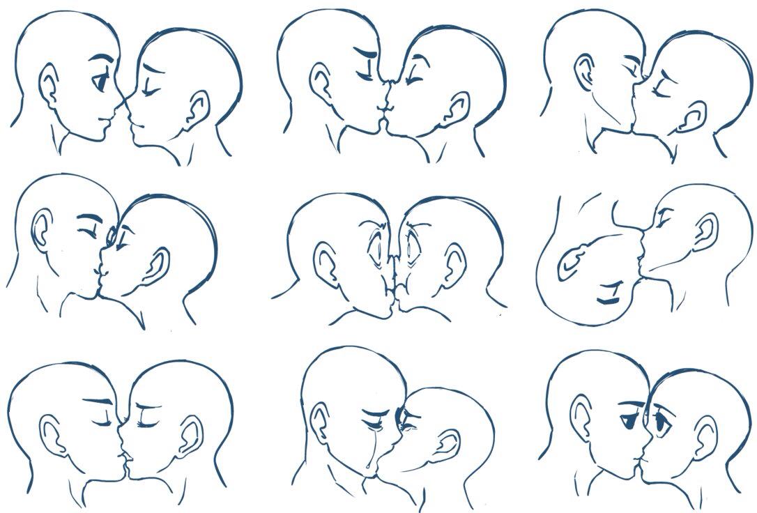 Drawn kisses vriska Of kissing expressions Different kissing
